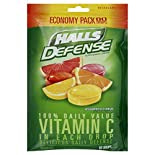 Halls Defense Supplement Drops, Assorted Citrus, Economy Pack, 80 drops