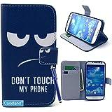 S4 Hülle,Galaxy S4 Hüllen,@Caseland PU Leder Flip mit Standfunktion Kartenfächer Brieftasche Schutzhülle Magnetisch Schaltfläche Ledertasche Case für Samsung Galaxy S4 I9500 Augen