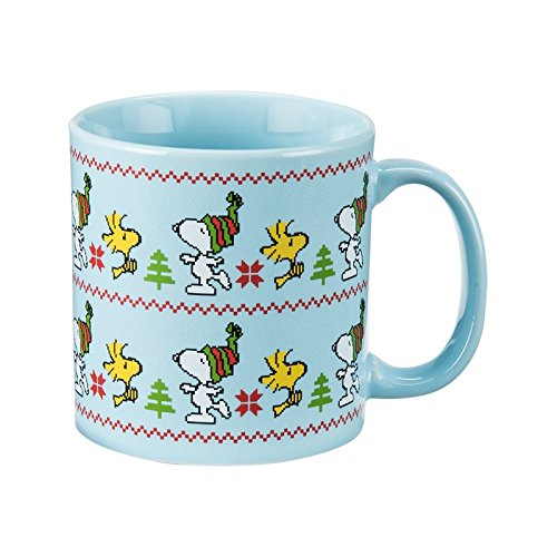 Peanuts Snoopy & Woodstock Ugly Sweater Mug