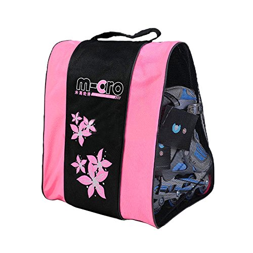 Kangkang@ Three Layers Bag Can Carry Gear Cap/special/skate Shoes Full Set Triangle Bales/roller Blading/roller Dedicated Skating Bag (Pink) (Quad Roller Skating compare prices)