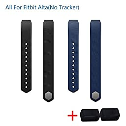 I-SMILE 2pcs Replacement Bands with Metal Clasps for Fitbit Alta(No tracker, Replacement Bands Only)