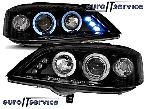 TOP SET HEADLIGHTS LAMPS LPOP18 OPEL ASTRA G 02.1998-02.2004 ANGEL EYES BLACK (Opel Astra G Headlights compare prices)