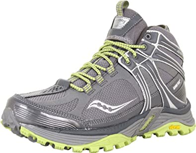 Saucony Women's Progrid Adventerra GTX Hiking Boot,Grey/Green,5 M US
