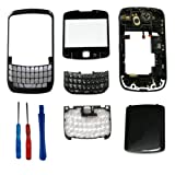 Black Full Housing Keypad Lens Cover Case For BlackBerry Curve 8520+Tools