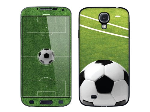 Cellet Soccer Skin For Samsung Galaxy S4 - Green/White