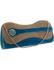 Sukkhi Designer Blue And Gold Clutch Handbag BW1029CD1200