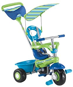 Kent Intl 1460907 intelligente Trike Fresh 3 en 1 Tricycle - Bleu et Vert