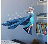 AAAPLUSSELLER Frozen Elsa Wall Stickers Decor Decal Mural Kids Room Play Room US Seller Fast Shipping