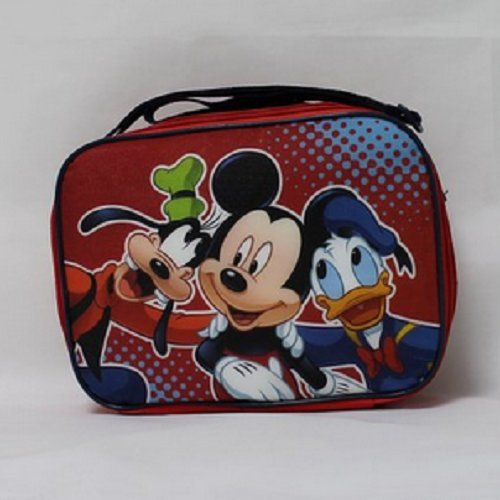 Disney Mickey Mouse Rectangle Lunch bag with Strap and Microsilk Printing