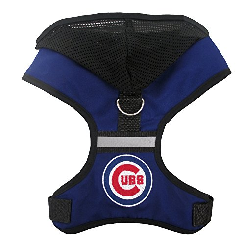 pets-first-mlb-chicago-cubs-harness-with-hood-medium