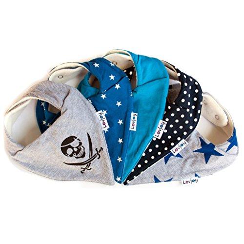 Lovjoy Babylatz für Jungen, Blau, Packung mit 5 Stück
