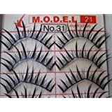 Model 21 High End No. 31, 32, 33, 34, 35, 36, 37, 38 or 39 False Fake Eyelashes 10 Pairs
