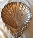 "Vintage Silverplated Serving SHELL Dish 13"" Length by 10 1/2 "" Wide"