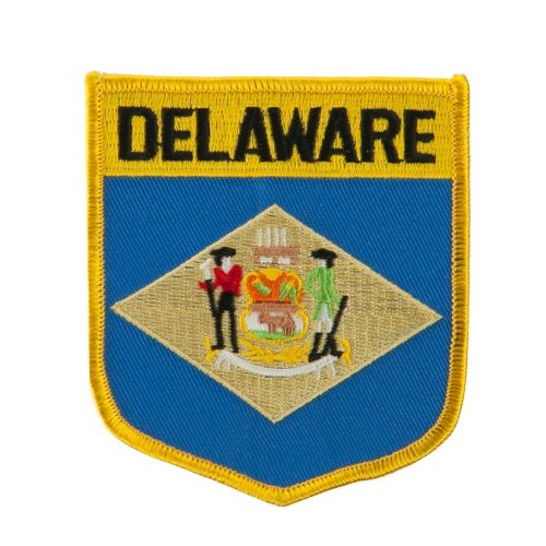 Eastern State Flag Embroidered Patch Shield - Delaware Osfm
