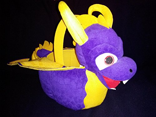 Skylanders Swap Force Plush Purple and Yellow Dragon Halloween and Easter Basket by PTI Group (Skylanders Easter Basket compare prices)