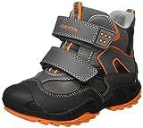Geox Jungen J New Savage Boy C Boots mit Velcro, Grau (Grey/ORANGEC0036), 31 EU