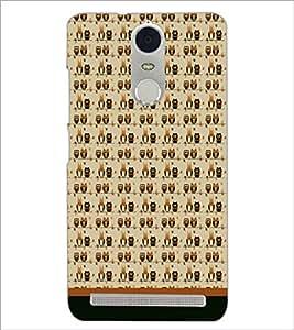 PrintDhaba Owl Pattern D-1703 Back Case Cover for LENOVO K5 NOTE (Multi-Coloured)
