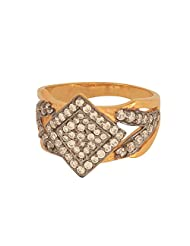 925 Sterling Silver Gold Plated Studded With Cz Women Rings