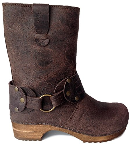 Sanita Wood Mohawk Leather Boots (EU 38 (US 7.5 - 8), Brown) (Wood Boots compare prices)