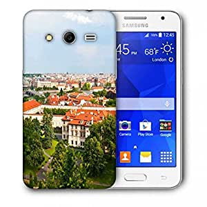Snoogg Red Roof Houses Printed Protective Phone Back Case Cover For Samsung Galaxy Core 2 / Core II G355H