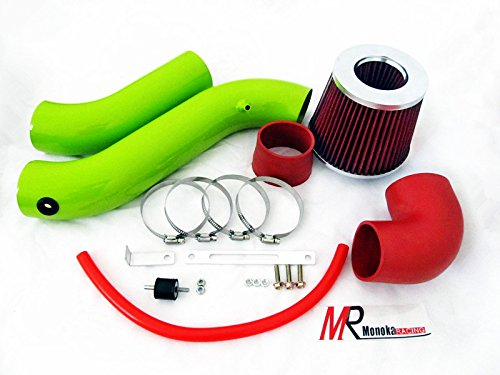 05 06 07 08 Dodge Charger/Magnum 3.5L V6 Green Piping Cold Air Intake System Kit with Red Filter (Mazda Cold Air Intake compare prices)