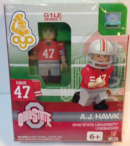 OYO Football Building Brick Minifigure A.J. Hawk Ohio State Buckeyes