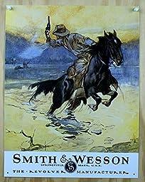 1 X Smith & Wesson - Hostiles Metal Tin Sign 12.5\