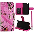 Pink Camo Mozy Flip Wallet Apple Iphone 5C Leather Pouch With ID Slot at&t. Verizon