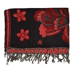 Btex Women's Shawl (Black,80 Cms)