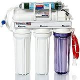 5 - Stage Aquarium Reef Reverse Osmosis Water Filter System-RO/DI | 50 GPD MEMBRANE + MANUAL FLUSH KIT