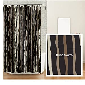 Amazon.com: Kanai Tribal Stripe Fabric Shower Curtain Clearance ...