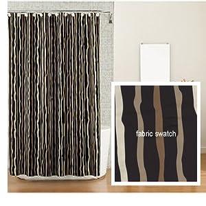 Amazon.com: Kanai Tribal Stripe Fabric Shower Curtain Clearance ...