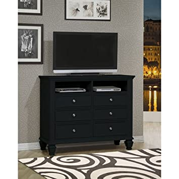 Coaster Home Furnishings Country Media Chest, Black