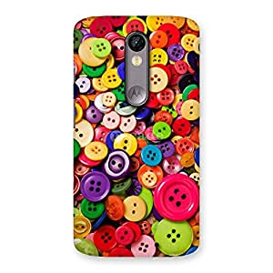 Cute Button Lot Print Back Case Cover for Moto X Force
