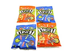 Sour Punch Stawberry, Blue Raspberry, Green Apple, Peach, Mango, Pineapple, Orange, Kiwi Candy - 4 Pack