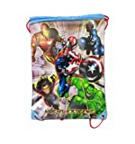 Licensed Marvel Heroes Drawstring Bag Backpack - CAPTAIN AMERICA / THOR / HULK
