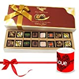 Valentine Chocholik Belgium Chocolates - Exotic Combination Of Pralines Chocolates With Love Mug