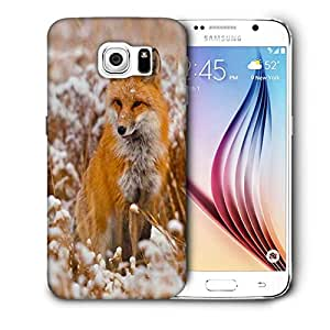 Snoogg Fox In White Garden Printed Protective Phone Back Case Cover For Samsung Galaxy S6 / S IIIIII