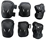 Adult Unisex Skateboard Cycling Roller Skating and Many Other Outdoor Sports Knee, Elbow, Wrist 3-IN-1(6pcs) Protection Cattle Head Style Durable Safety Protective Gear Pads Set - 3 color Available