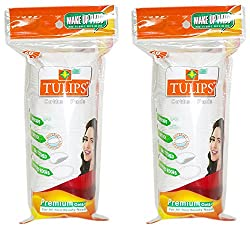Tulips Cotton Pads 50s Pack of 2