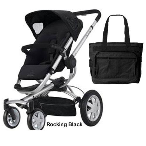 Quinny Cv155Rkbkit Buzz 4 Stroller - Rocking Black With Free Diaper Bag front-828207