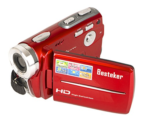 Camcorders, Besteker Portable Digital Video Camcorder HD Max 20.0 MP 1280*720P Camera DV 3.0 Inches TFT LCD Screen 16X Zoom and Microspur Video Recorder(109-Red) (Thermal Ghost Camera compare prices)
