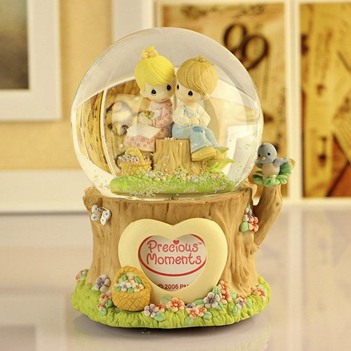 Music boxes glass balls dolls Rotary 18 valve flower carving LED bird ornament bb407-yyh05 with light