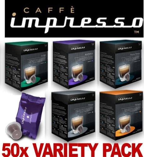 Order 50 x Caffè Impresso Nespresso Compatible Coffee Capsules Pods 5 x Great Blends by Espresso Capsule Company