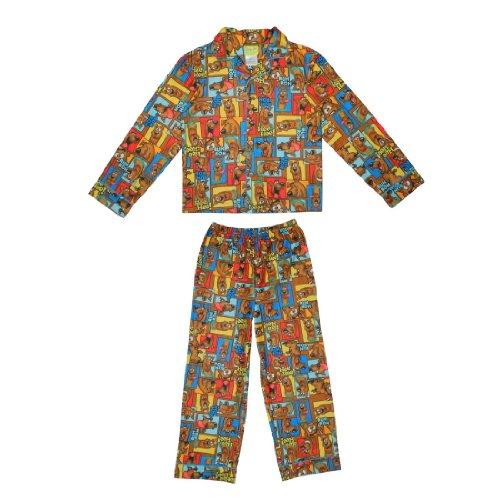 2 PCS SET: Boys Or Girls Scooby Doo Fleece Sleepwear Pajama Top & Pants Set