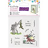 Roald Dahl Enormous Crocodile and Fantastic Mr Fox Zippfizzing Clear Stamps, Pack of 8, Multi-Colour