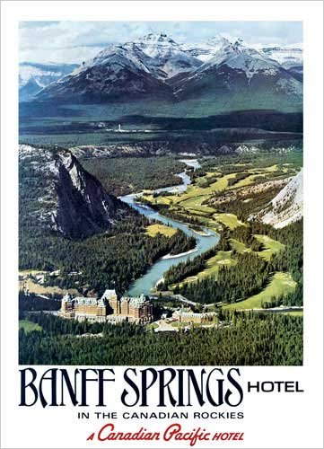 Canadian Pacific, Banff in the Canadian Rockies Poster Print, 19.5x27