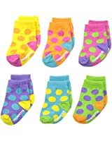 Trumpette Baby-Girls Newborn Bright Dots Socks