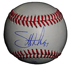 Scott Downs Autographed ROLB Baseball, Los Angeles Angels of Anaheim, Toronto Blue Jays, Proof Photo