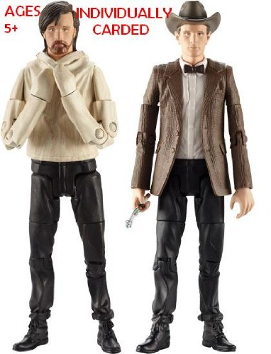 Picture of Character Options DOCTOR WHO SERIES 6 ACTION FIGURE THE ELEVENTH DOCTOR WEARING COWBOY HAT & THE ELEVENT DOCTOR IN STRAIGHT JACKET (B005F8Z9IK) (Character Options Action Figures)